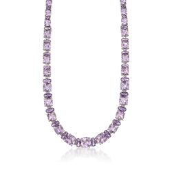 """50.35 ct. t.w. Pink and Purple Amethyst Necklace in Sterling Silver. 18"""", , default"""