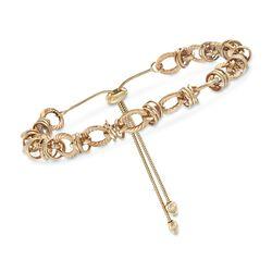 14kt Yellow Gold Oval-Link Bolo Bracelet , , default