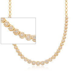 2.00 ct. t.w. Diamond Illusion Setting Necklace in 18kt Gold Over Sterling, , default