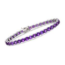 15.00 ct. t.w. Amethyst Bracelet in Sterling Silver, , default