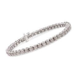 1.00 ct. t.w. Diamond Illusion Tennis Bracelet in Sterling Silver, , default
