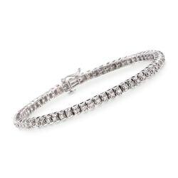 """1.00 ct. t.w. Diamond Tennis Bracelet in Sterling Silver. 7.25"""", , default"""