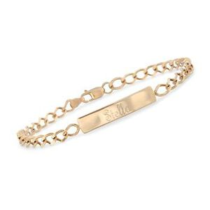 Child's 14kt Yellow Gold Name ID Bracelet. 6 Inches #012444