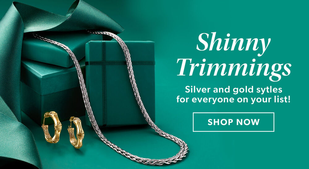 Shiny Trimmings -- Shop Silver & Gold