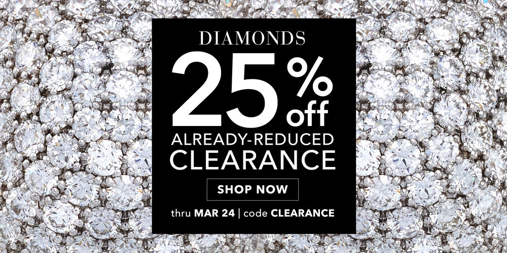 Bling It On 25% off diamond clearance