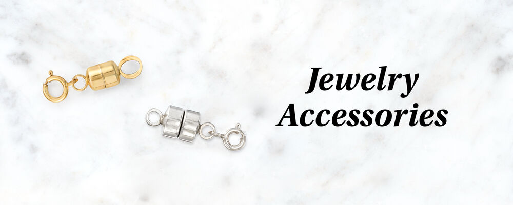 Jewelry Accesories. Image of gold and silver magnetic jewelry clasps.