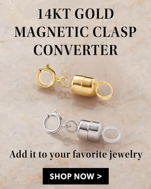 14kt Gold Magnetic Clasp Converter. Add it to your favorite jewelry. Shop Now