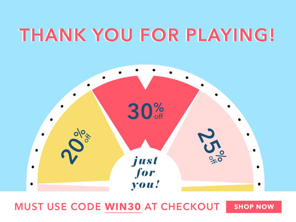 You Have Won 30% Off