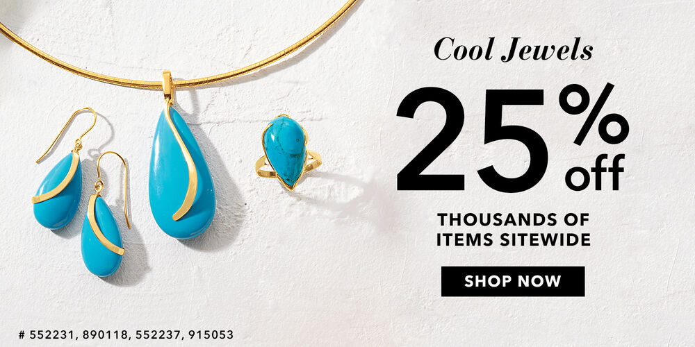 25% Off 1000s of Items Save on cool summer jewels!