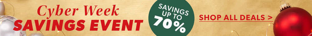 Cyber Monday Event. Savings Up To 70%. Shop All Deals