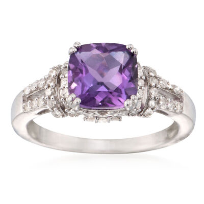 February Amethyst. Image Featuring Amethyst Ring