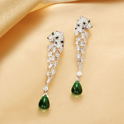 Gifts Under $99. Image Featuring Diamond & Gemstone Drop Earrings
