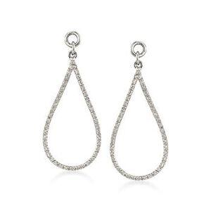.26 ct. t.w. Diamond Open Teardrop Earring Jackets in Sterling Silver #797423