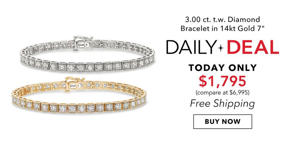 3-Carat Daily Deal A diamond bracelet you'll love