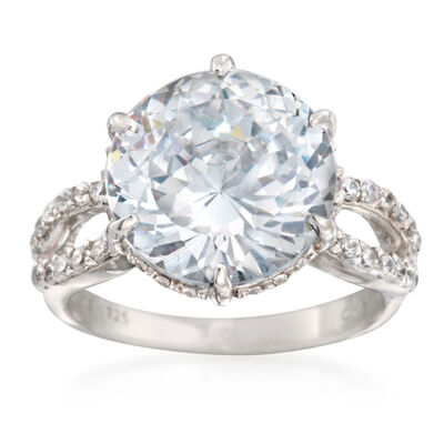 Faux Stone Engagement Rings