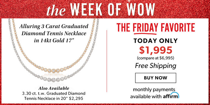 Week of Wow: Day 5 3 ct. diamond tennis necklace