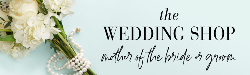 The Wedding Shop -- Mother of the Bride or Groom. Image of flowers wrapped with pearl strands.