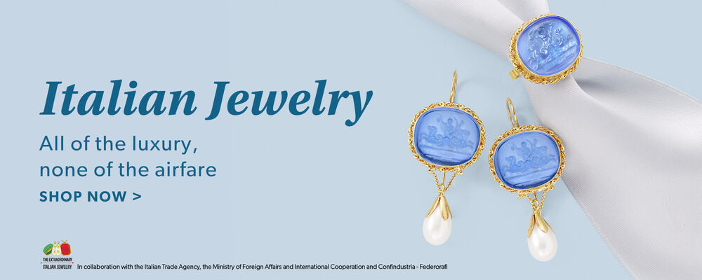 Italian Jewelry. All Of The Luxury, None Of The Airfare. Shop Now. Image Featuring Italian Jewelry