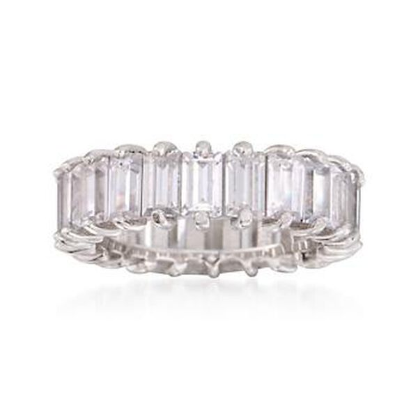 3.80 ct. t.w. CZ Eternity Band in Sterling Silver #297922