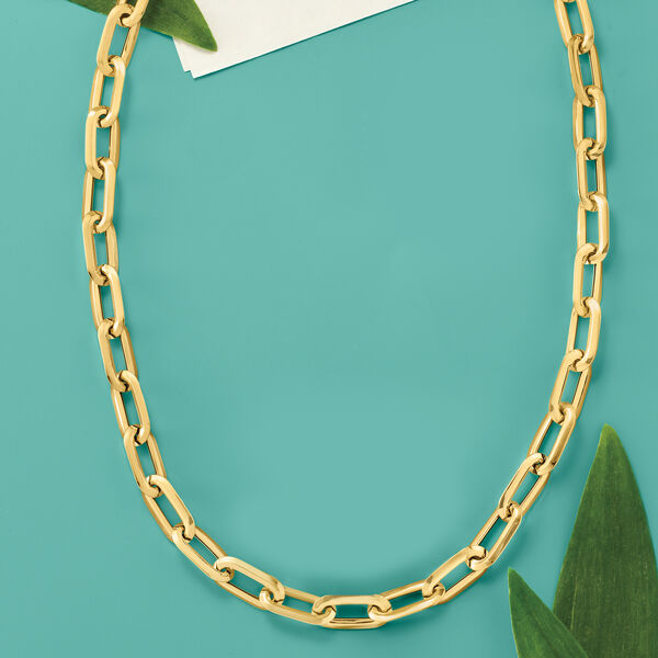 On-trend favorites! Shop Paper Clip Link Necklaces