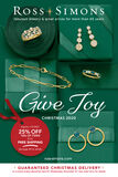 Catalog Cover : Ross-Simons Believe in the Magic of Jewelry Christmas Preview 2020 -- image featuring Green Gemstone Jewelry on Snow Surrounded by Ever-Greens