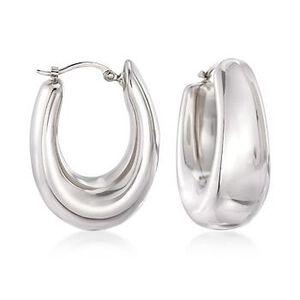 Sterling Silver Hoop Earrings #663746