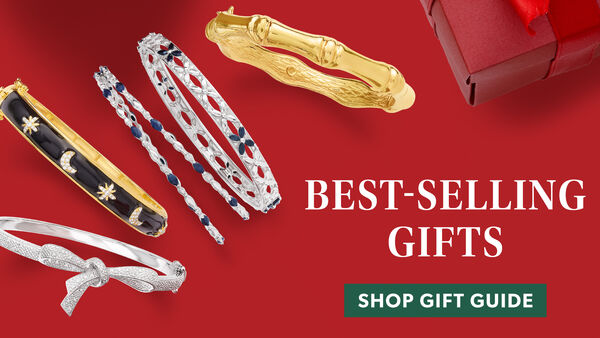 Best-Selling Gifts. Shop Gift Guide. Image Featuring Assorted Bracelets