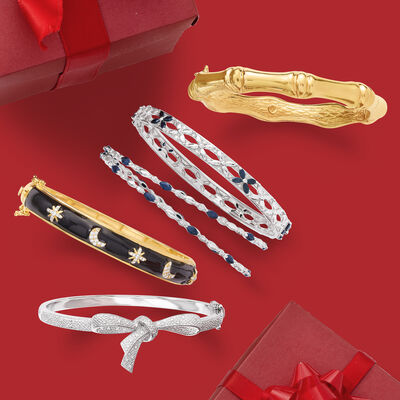 Top Gifts. Image Featuring 5 Gold Bracelets