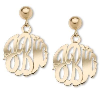 Monogram Earrings. Image Featuring Monogram Earrings