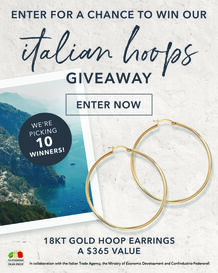 Italian Hoops Sweepstakes