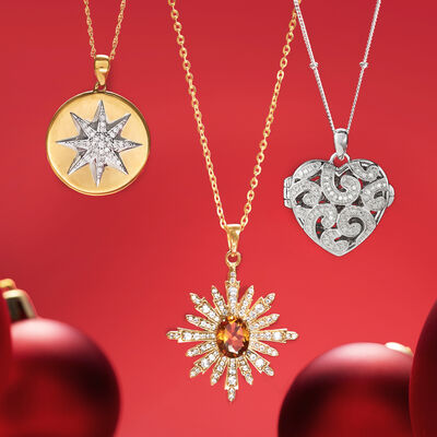 Stocking Stuffers. Image Featuring Pendant Necklaces