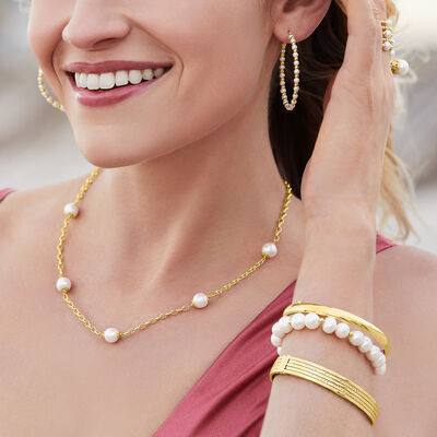 Gorgeous pearls in 14kt gold. Shop Now. Image Featuring