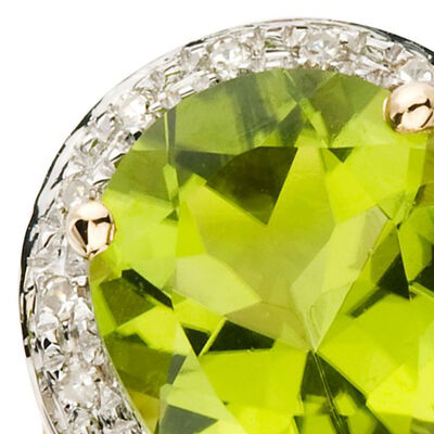 August - Peridot. Image Featuring Peridot Ring