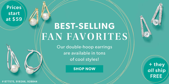 Best Seller Alert! Double-hoop earrings from $59