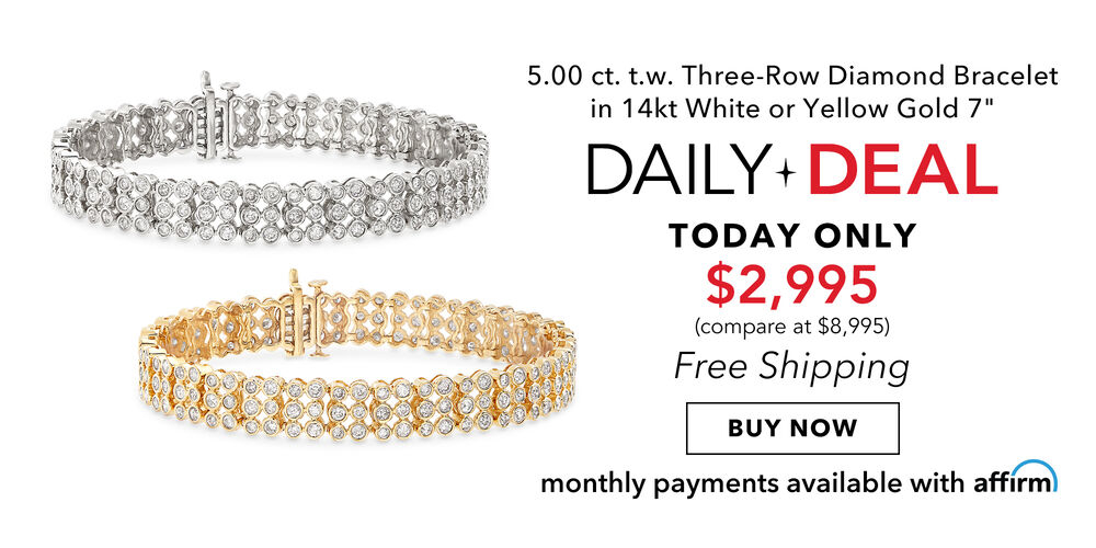 5 Carat Daily Deal Dazzling diamond bracelet