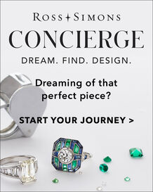 Ross-Simons Concierge Service. Dream. Find. Design. Dreaming of that perfect piece? Start your journey. Image of rings, loose stones and jewelry tool.