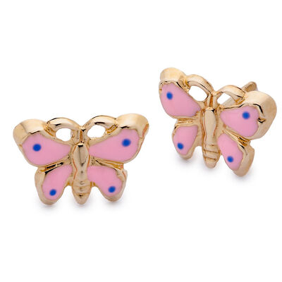 Children's Earrings. Image Featuring Butterfly Earrings
