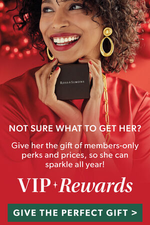 Not Sure What To Get Her? Give her the gift of members-only perks and prices, so she can sparkle all year! VIP Rewards. Give The Perfect Gift. Image Featuring Model Shot Holding Ross-Simons gift Box