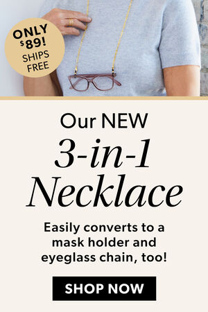 Our New 3-In-1 Necklace. Shop Now