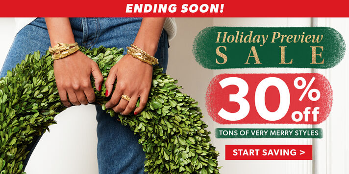 30% off Ends Soon! Stock up on festive styles