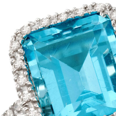 December - Blue Topaz. Image Featuring Blue Topaz Ring