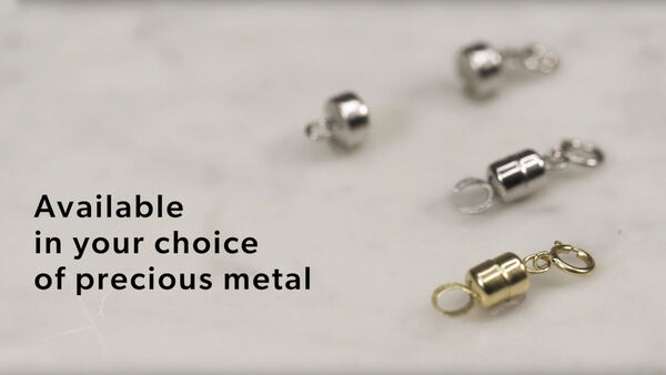 Magnetic clasp YouTube video.