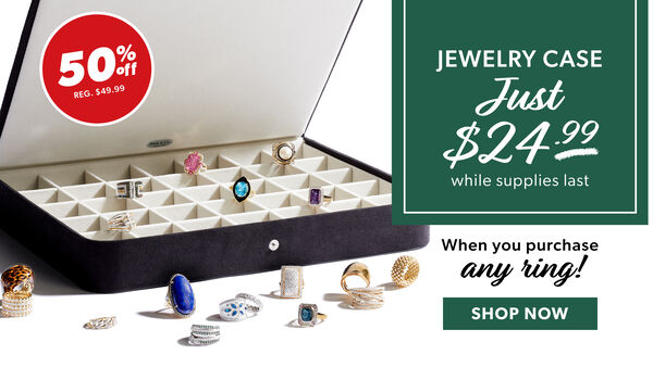 Jewelry Case Just $24.99 While Supplies last. When You Purchase Any Ring! Shop Now