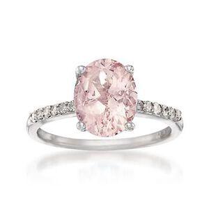 Pink Morganite and Diamond Ring #693226
