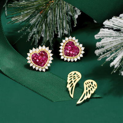 Gifts With Meaning. Image Featuring Two Gold Earrings