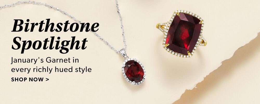 Garnet Jewelry - January's Birthstone