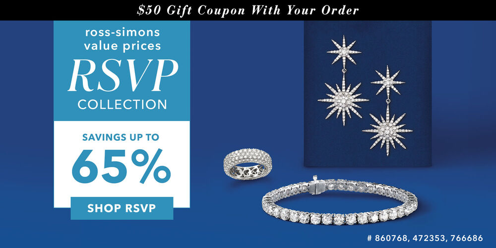 RSVP: Save Up to 65% Plus, $50 off your next order!