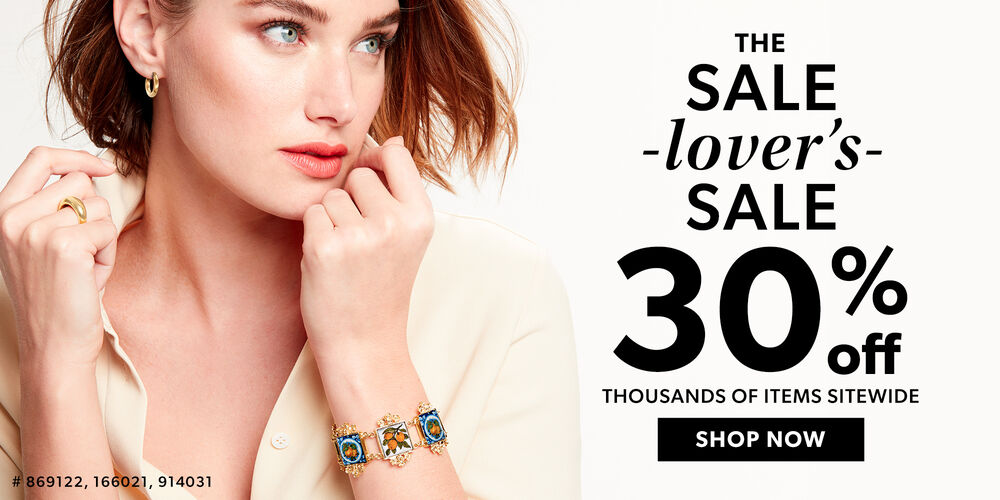A Sale You'll Love 30% off 1000s of items!