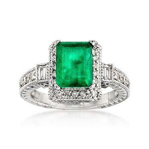 Emerald and Diamond Ring #663704
