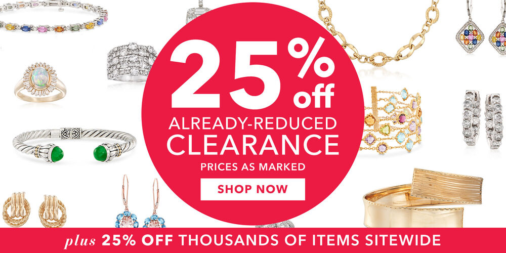 Save Even More! 25% off clearance prices